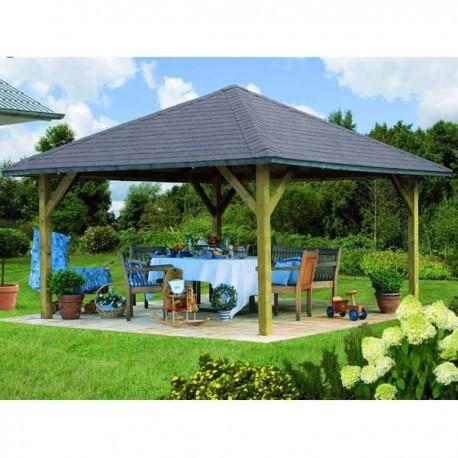 Kiosque de jardin en bois FSC Holm 1  431x431m  Karibu