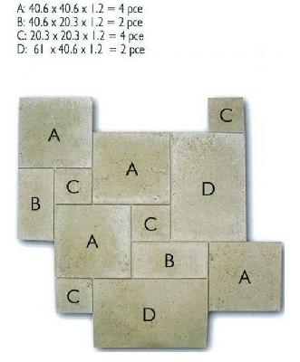 Travertin beige vieilli opus 4 formats 1choix Carrelage Travertin vieilli opus 4 formats PIERRE