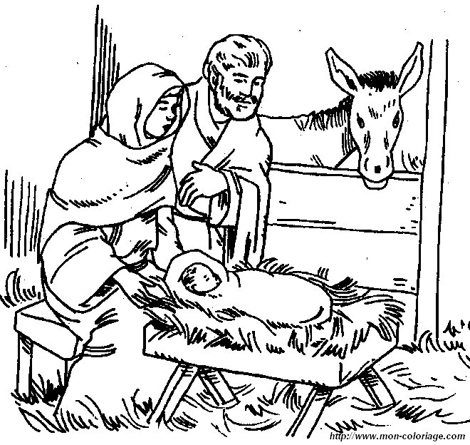 Baby Jesus Coloring Pages Baby In A Manger Coloring Page