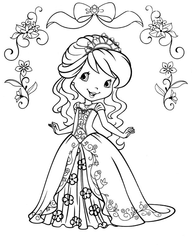 Coloriage de Charlotte aux fraises, dessin Charlotte aux