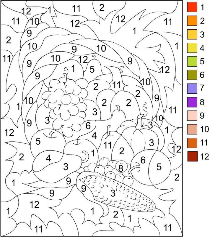 Coloriage de Coloriages magiques, dessin Colorier de