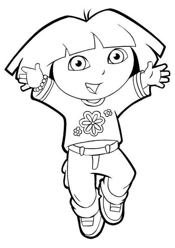 Coloriage de Dora l'exploratrice, dessin Viens dans mes