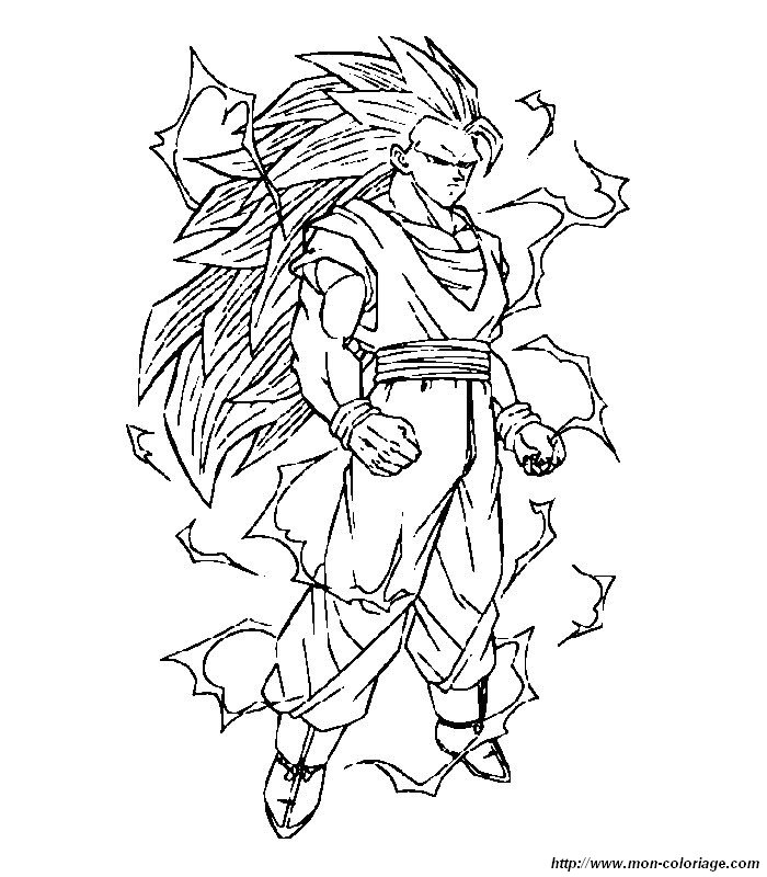 Coloriage de Manga Dragon Ball Z, dessin 027 à colorier