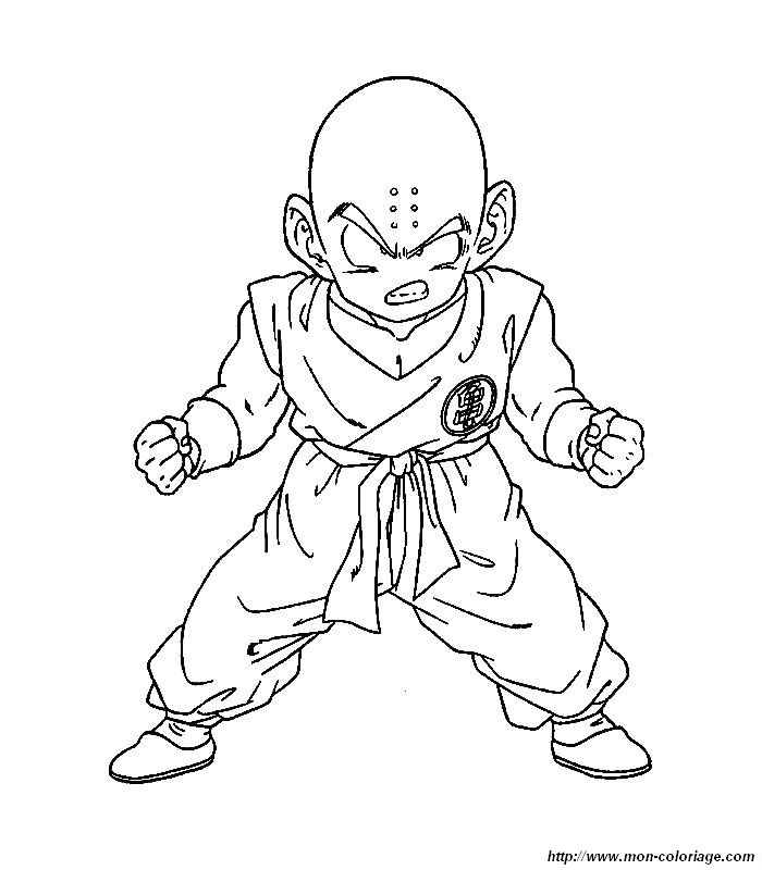 Coloriage de Manga Dragon Ball Z, dessin dbz 06 à colorier