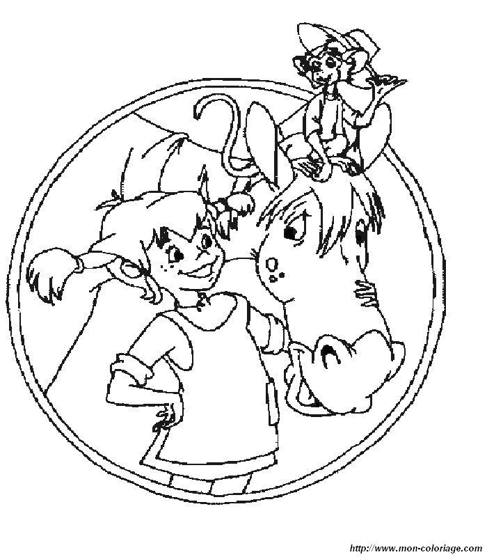 Malvorlagen Zum Ausdrucken Pippi Langstrumpf