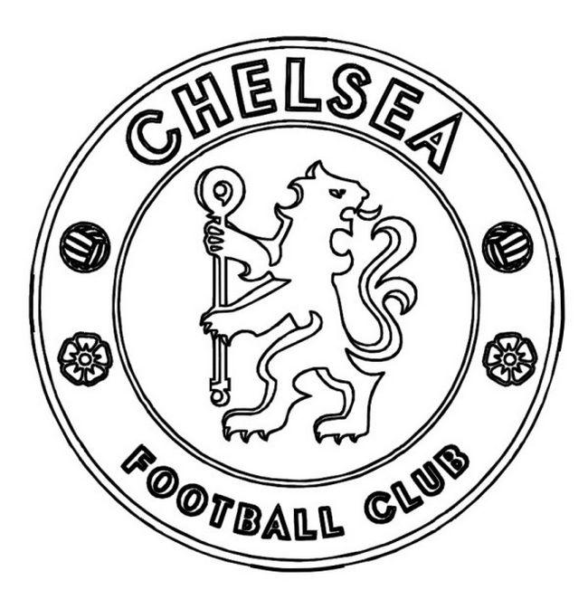 Coloriage de Football, dessin Chelsea FC à colorier