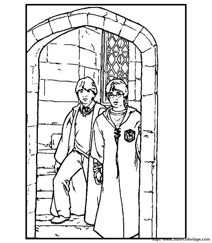Coloriage de Harry Potter, dessin colorier harry potter à