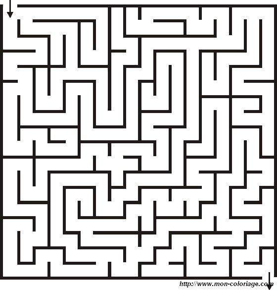 Coloriage de Jeux de labyrinthe, dessin labyrinthe 02 à