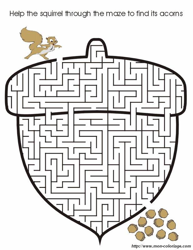 Coloriage de Jeux de labyrinthe, dessin labyrinthe 05 à