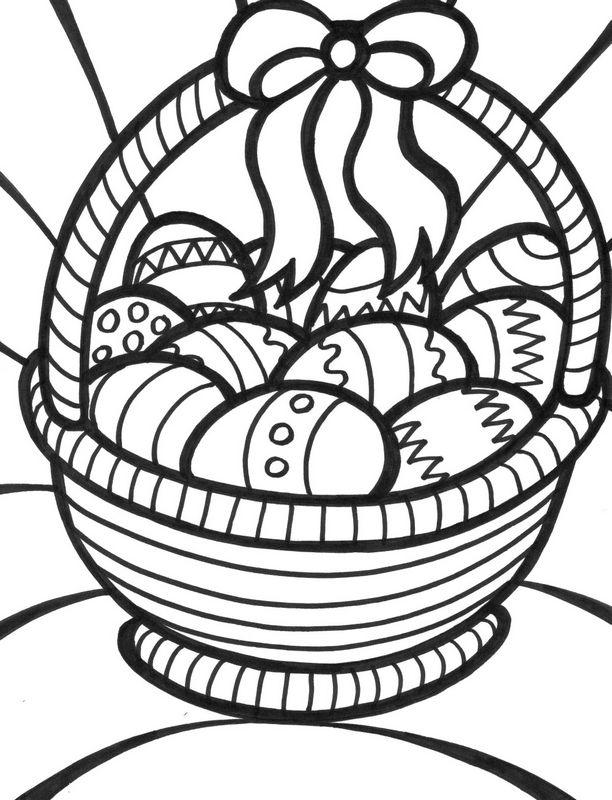 Coloriage de Pâques, dessin Coloriages paques à colorier