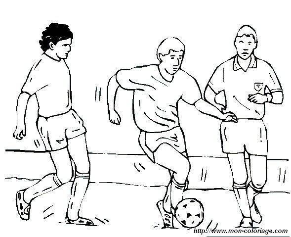 Coloriage de Sport, dessin equipe football à colorier