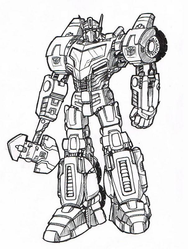 Coloriage de Transformer, dessin Les transformers à colorier