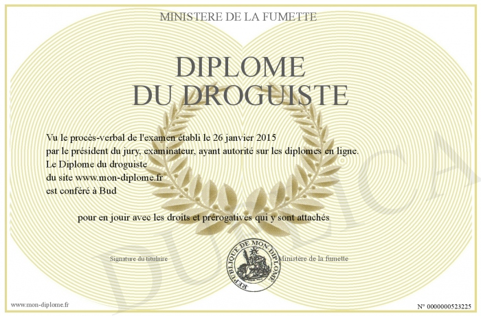 Diplome Du Droguiste