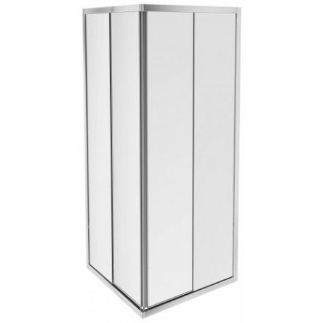 2 portes coulissantes acces d angle transparentes 80 x 80 x 190 cm serenity jacob delafon