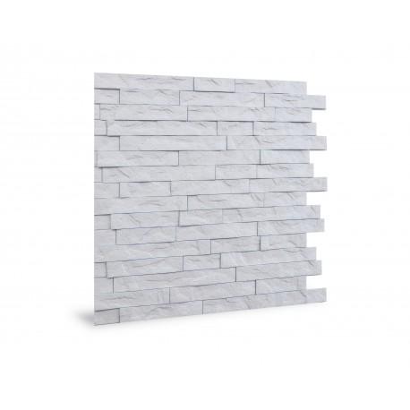 panneaux muraux blancs imitation pierre interlocking palram