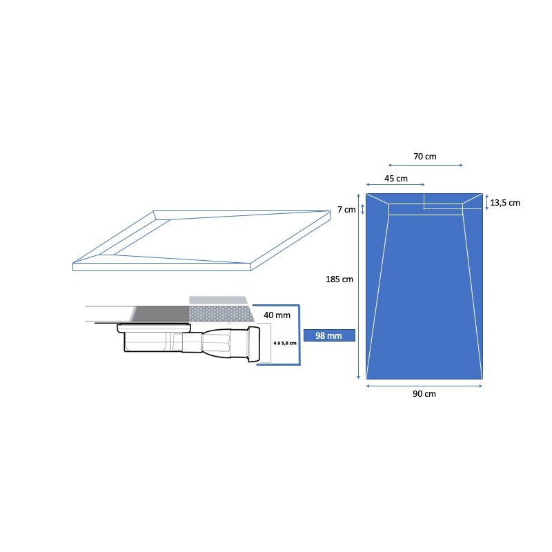 carreler lineboard 185 x 90 cm
