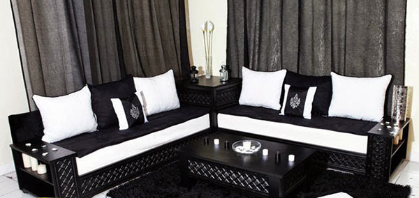 Salon marocain moderne achat salon oriental contemporain gris pas cher