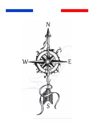 Tatouage rose des vents temporaire - Mon petit tatouage
