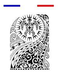 Tatouage temporaire Maori Bras Epaule