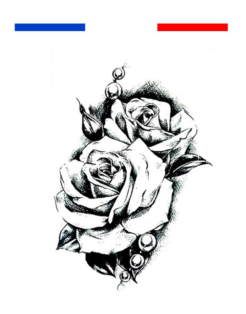 tatouage rose noir et blanc homme femme mon petit. Black Bedroom Furniture Sets. Home Design Ideas