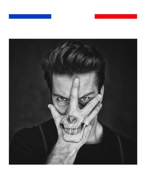 tatouage tête de mort homme réaliste