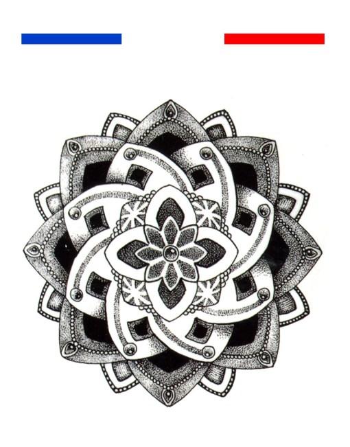 Tatouage fleur de lotus mandala poignet