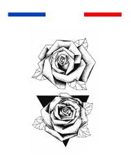 tatouage rose dotwork poignet temporaire