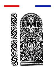 Tatouage Maori Bracelet Avant-Bras Biceps - Noir