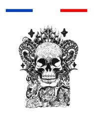 tatouage tete de mort totem bras