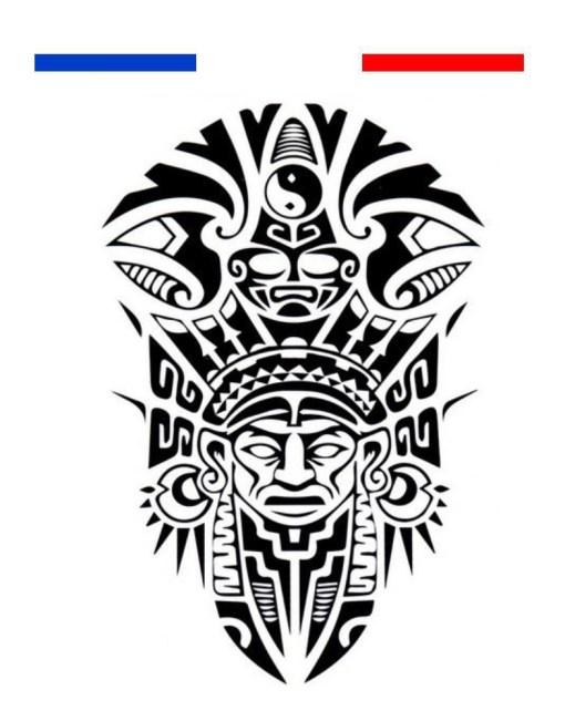 Tatouage Maori Indien Temporaire Indien Noir