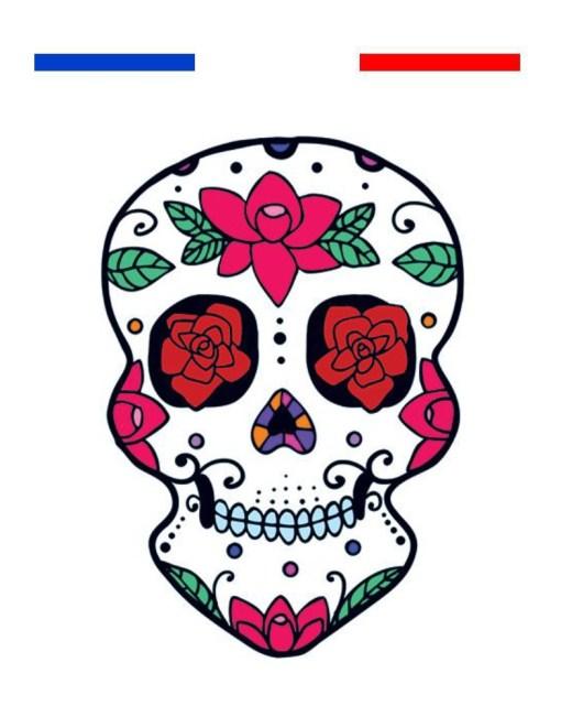 tatouage tête de mort mexicaine
