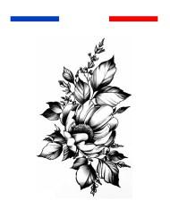 tatouage fleur fin délicat femme