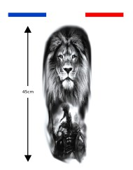 Tatouage manchette lion spartiate 300