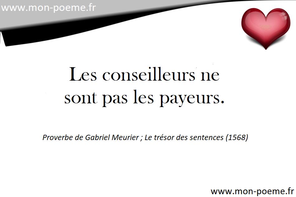 les proverbes francais celebres