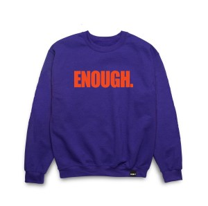 ENOUGH. CREWNECK Purple Red