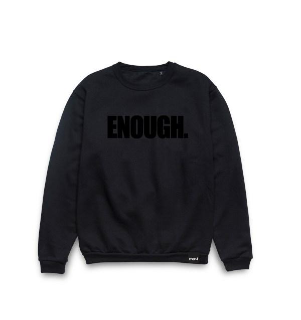 ENOUGH. CREWNECK Black