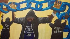 'I Am Here' mural detail. Pic: Laura Liszewski