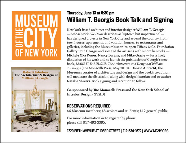 William T. Georgis Book Talk and Signing