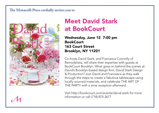 Meet David Stark at BookCourt June 12 at 7:00 PM