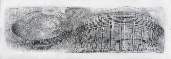 "2001, Graphite on paper, 22 x 72"", Collection of the National Gallery of Art, Washington DC, Gift of Architektur Galerie Berlin, Ulrich Muller"