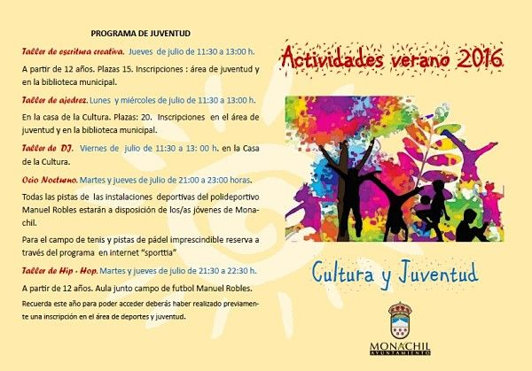 actividades cultura y juventud verano 2016 cara1