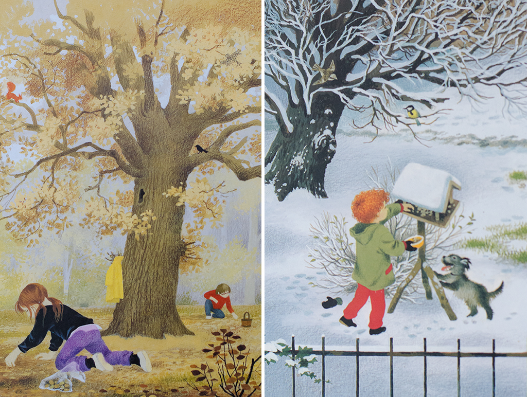autumn & winter collage