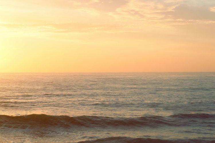 Calm sea dusk