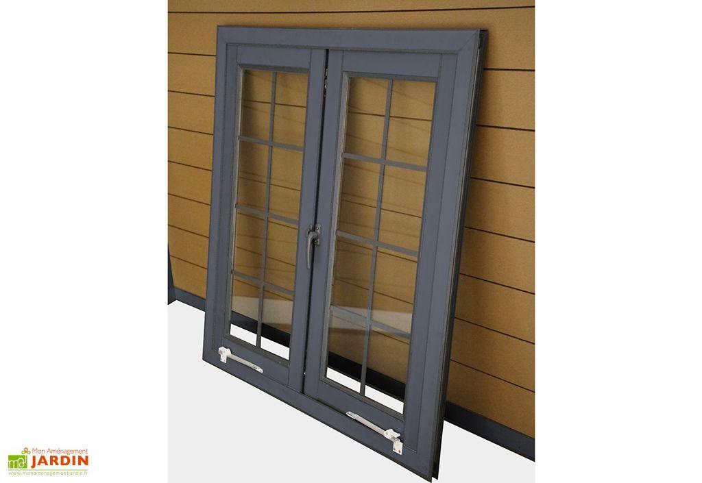 fenetre en aluminium pour abri de jardin woodlife double vitrage