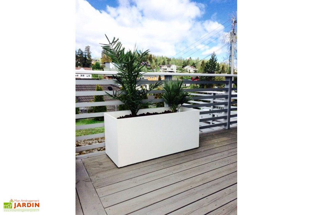 jardiniere en beton fibre retkube 100 100x40