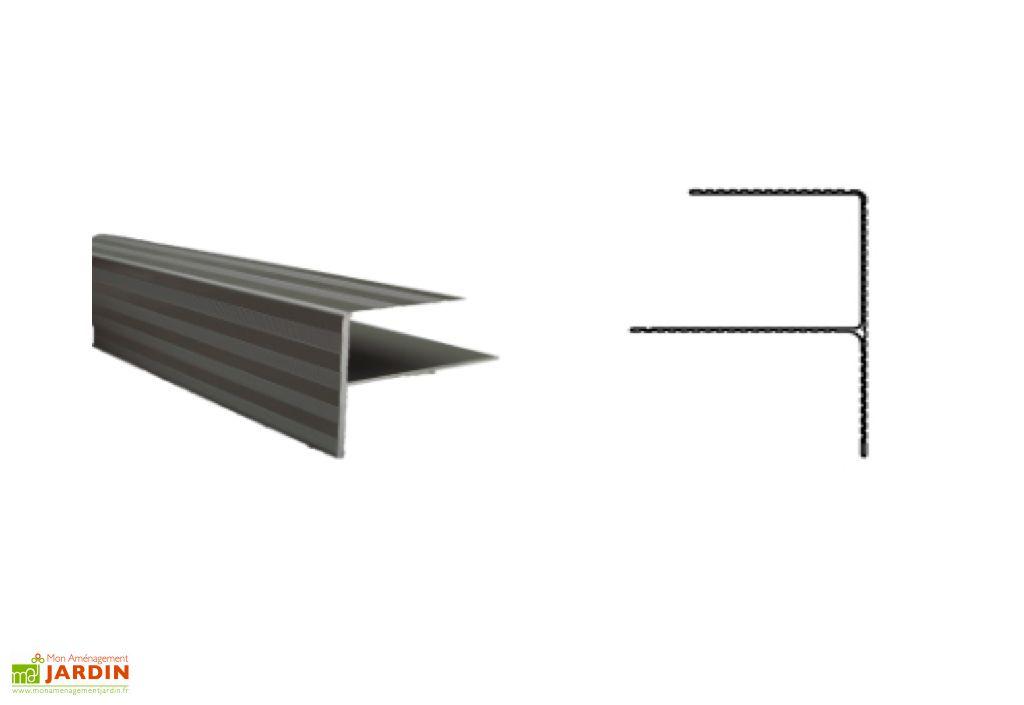 Rail De Finition Inox Pour Terrasse Composite 400x4