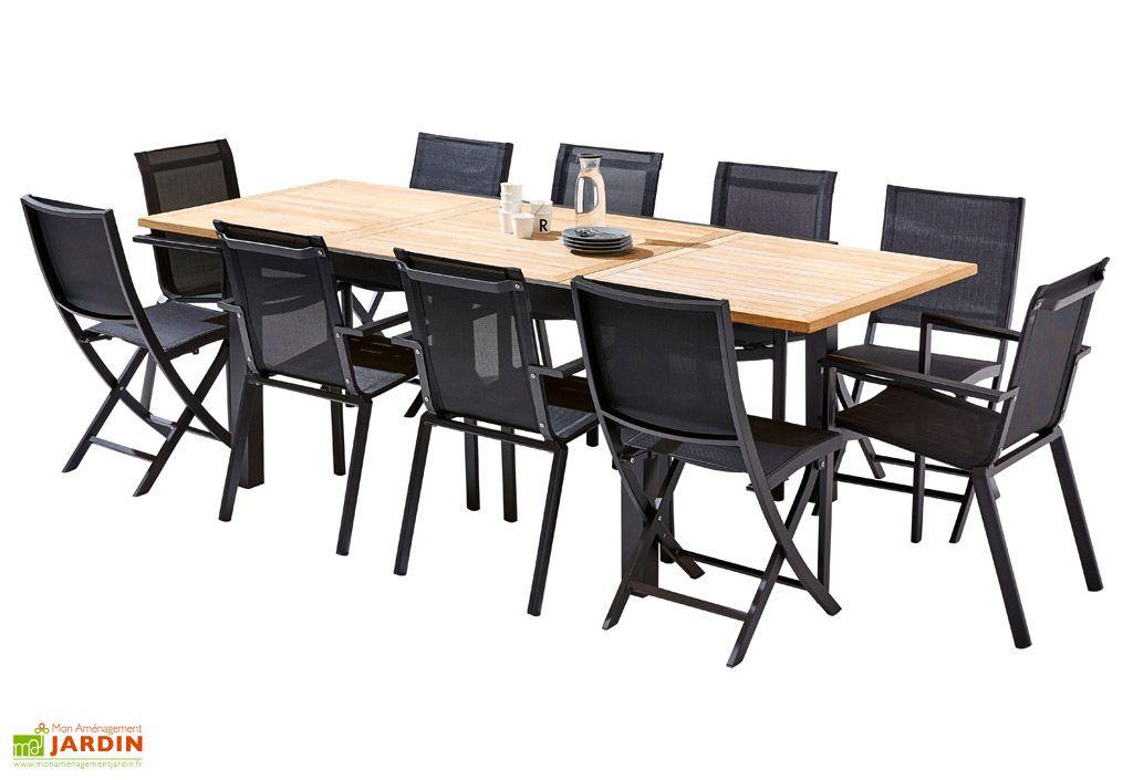 salon de jardin bali table extensible 6 fauteuils 4 chaises