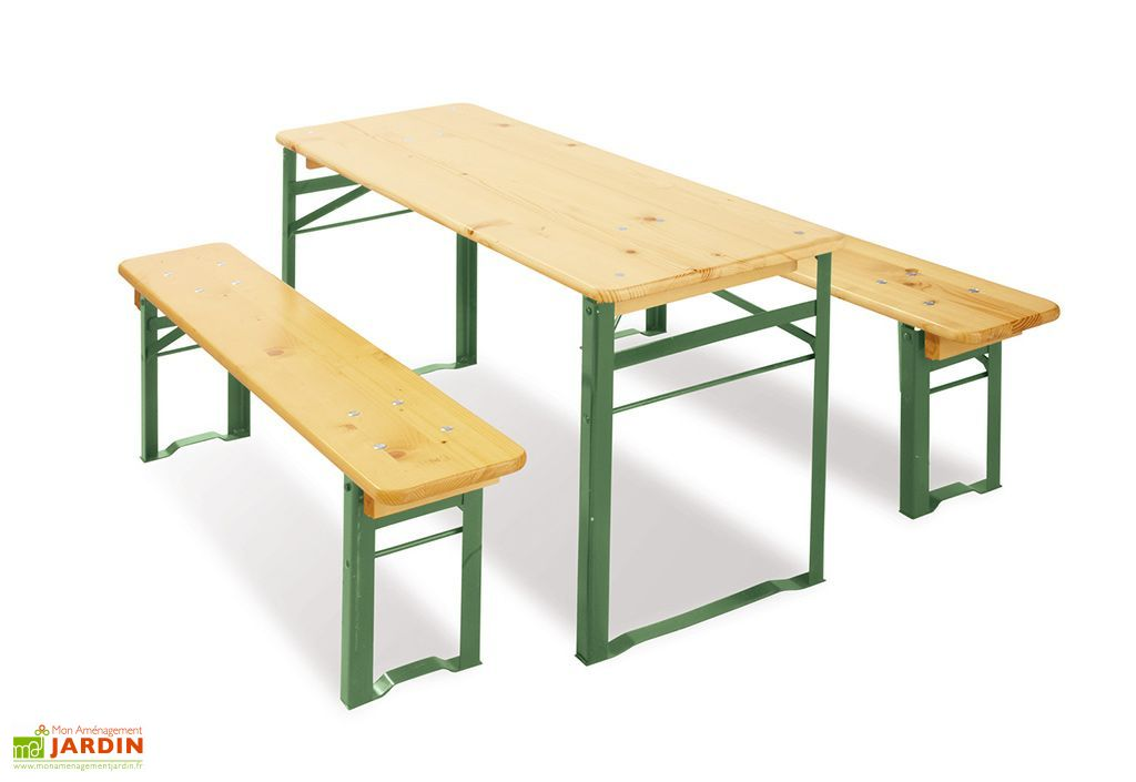 table de jardin pour enfant pliable bancs 6 places