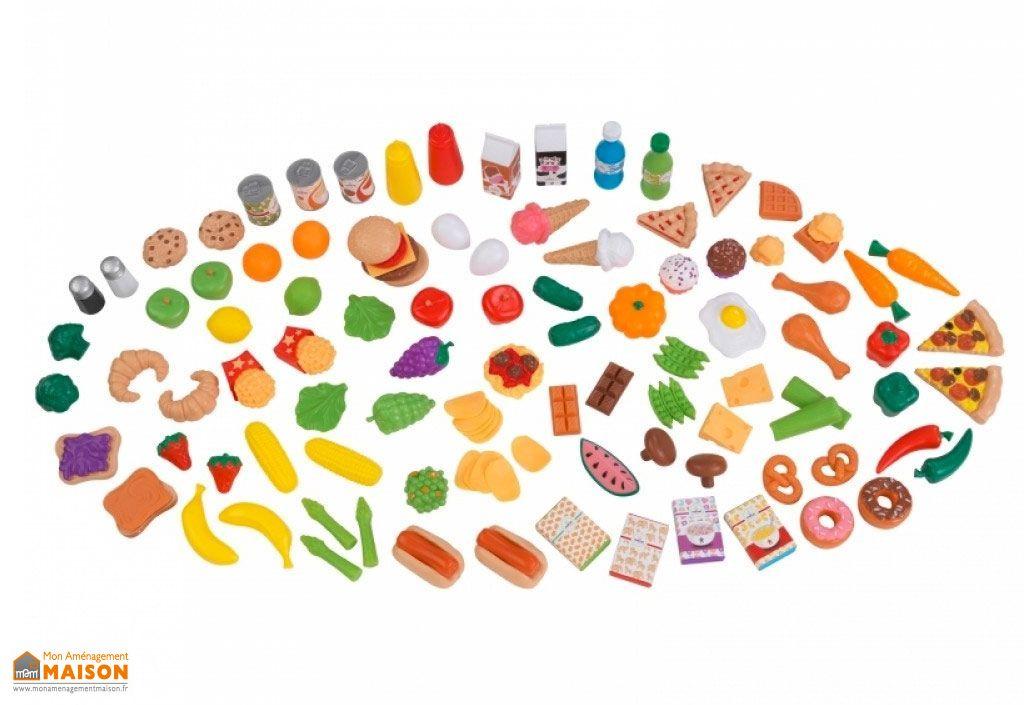 aliments plastiques pour cuisine 115 pieces jouet pour enfants