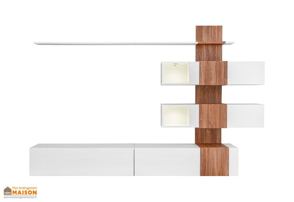ensemble meuble tv mural en bois quill 250 x 160 cm